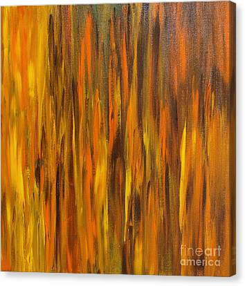 Canvas Print featuring the painting Abstract Fireside by Susan  Dimitrakopoulos