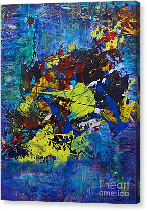 Canvas Print featuring the painting Abstract Fish  by Claire Bull