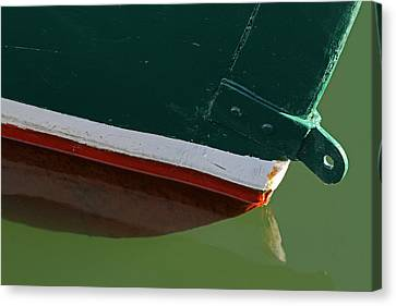 Sesuit Harbor Canvas Print - Abstract Fishing Boat Bow by Juergen Roth