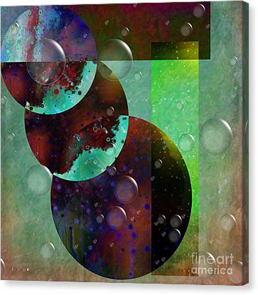 Abstract - Floaters Canvas Print by Liane Wright