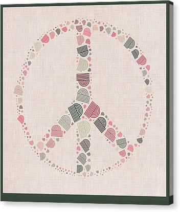 Peace Symbol Design - S77bt01 Canvas Print