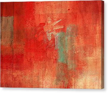 Textured Florals Canvas Print - Abstract Floral - 50t12a by Variance Collections