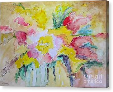 Canvas Print featuring the painting Abstract Floral by Barbara Anna Knauf