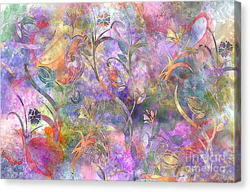 Abstract Floral Designe  Canvas Print by Debbie Portwood