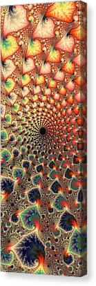 Abstract Floral Fractal Art Tall And Narrow Canvas Print by Matthias Hauser
