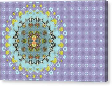 Abstract Floral Canvas Print by Susan Leggett