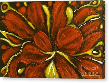 Abstract Flower Canvas Print by Elena  Constantinescu