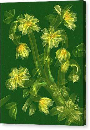 Abstract Flower Field Canvas Print by Veronica Minozzi