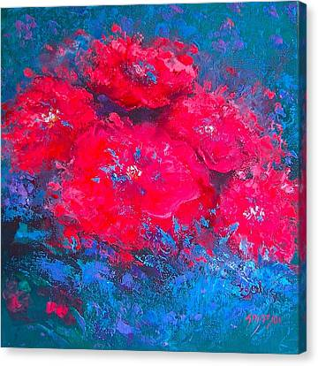 Abstract Flowers Canvas Print by Jan Matson