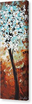 Abstract Flowers Canvas Print by Jolina Anthony