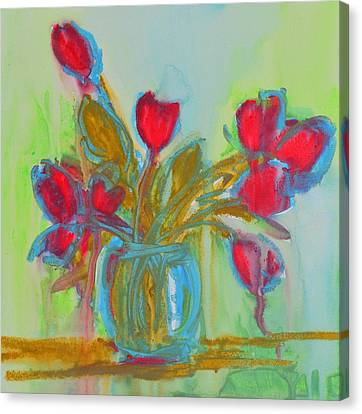 Abstract Flowers Canvas Print by Patricia Awapara