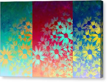 abstract  - flowers- Summer Joy Canvas Print by Ann Powell