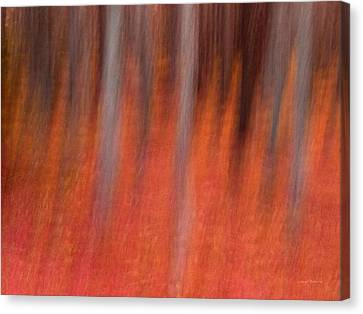 Warm Canvas Print - Abstract Forest 1 by Leland D Howard