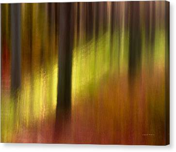 Warm Canvas Print - Abstract Forest 3 by Leland D Howard