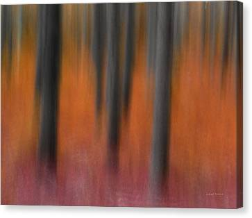 Abstract Forest 4 Canvas Print by Leland D Howard