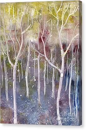 Abstract Forest Canvas Print by Suzette Broad