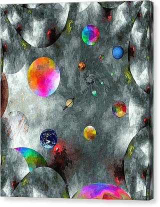 Abstract Fractillious-episode Two-creations Explosion Canvas Print by Glenn McCarthy Art and Photography