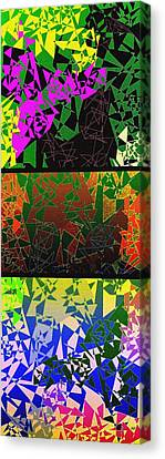 Abstract Fusion 193 Canvas Print by Will Borden
