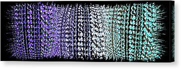 Canvas Print featuring the digital art Abstract Fusion 219 by Will Borden