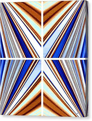 Canvas Print featuring the digital art Abstract Fusion 236 by Will Borden