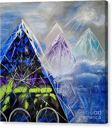 Abstract Glass Mountain Canvas Print