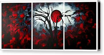 Goth Canvas Print - Abstract Gothic Art Original Landscape Painting Imagine By Madart by Megan Duncanson