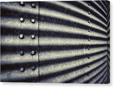 Abstract Grain Silo Canvas Print by Thomas Zimmerman