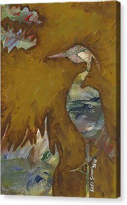 Abstract Heron Canvas Print