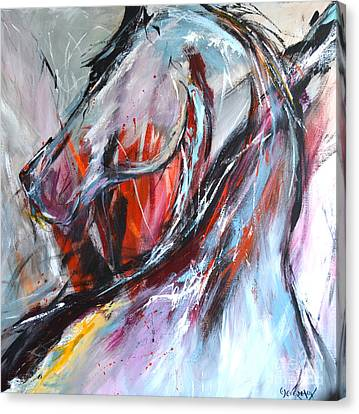 Abstract Horse 4 Canvas Print by Cher Devereaux