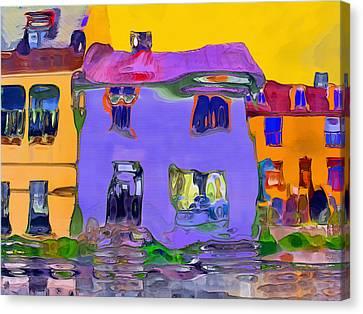 Abstract Houses Canvas Print by Nina Bradica
