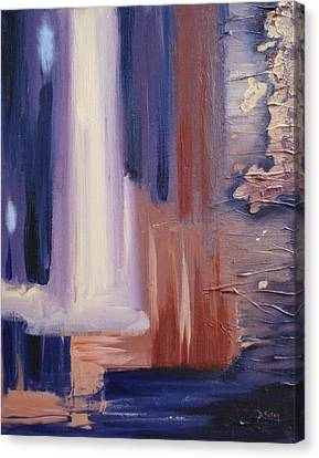 Canvas Print featuring the painting Abstract I by Donna Tuten