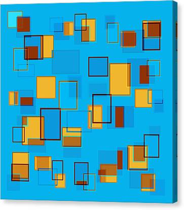 Abstract In Beach Color Scheme Canvas Print by Frank Tschakert