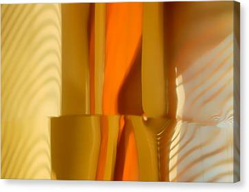 Venetian Blinds Canvas Print - Abstract In Brass - 4 - Historic Library Building - Omaha Nebr by Nikolyn McDonald