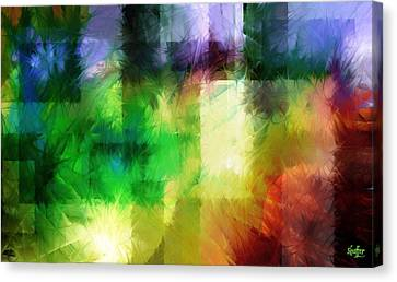 Canvas Print featuring the painting Abstract In Primary by Curtiss Shaffer