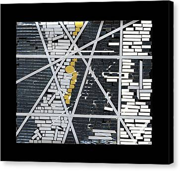 Abstract In Tape And Letterforms 5 Canvas Print by Agustin Goba