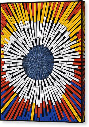 Abstract In Tape - Starburst Canvas Print by Agustin Goba