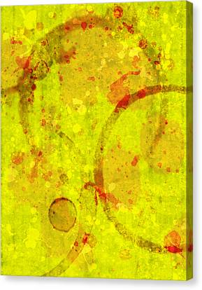 Abstract Ink And Water Stains Canvas Print by Lisa Noneman