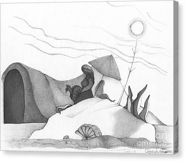 Abstract Landscape Art Black And White Beach Cirque De Mor By Romi Canvas Print by Megan Duncanson