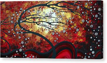 Abstract Landscape Art Original Painting Where Dreams Are Born By Madart Canvas Print by Megan Duncanson