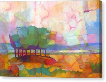 Abstract Landscape Canvas Print by Lutz Baar