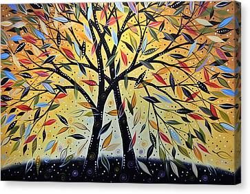 Abstract Landscape Modern Tree Art Painting ... New Day Dawning Canvas Print by Amy Giacomelli