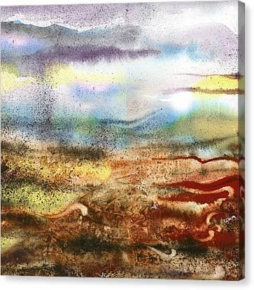 Abstract Landscape Morning Mist Canvas Print by Irina Sztukowski
