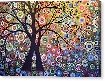 Abstract Landscape Painting ... Magic Garden Canvas Print by Amy Giacomelli