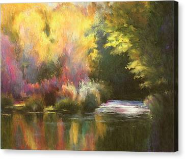 Abstract Landscape Canvas Print by Renee Skiba
