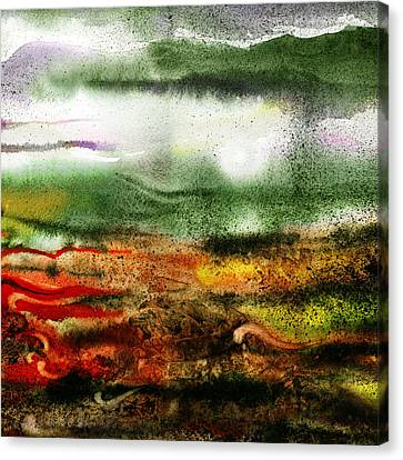 Abstract Landscape Sunrise Sunset Canvas Print by Irina Sztukowski