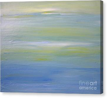 Canvas Print featuring the painting Abstract Landscape  by Susan  Dimitrakopoulos