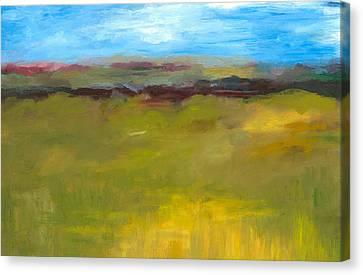 Abstract Landscape - The Highway Series Canvas Print by Michelle Calkins