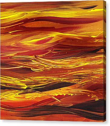 Abstract Landscape Yellow Hills Canvas Print by Irina Sztukowski