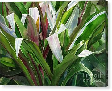 Abstract Leaf Design Canvas Print by Sharon Freeman