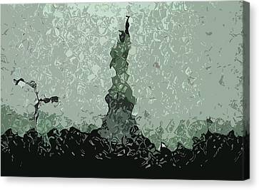 Abstract Liberty On 9/11 Canvas Print by Kosior